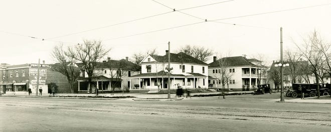 This photo was taken about 1920 when Dr. Welsh built the Mercer Hotel at 510-512 N. Main where his hospital house was.