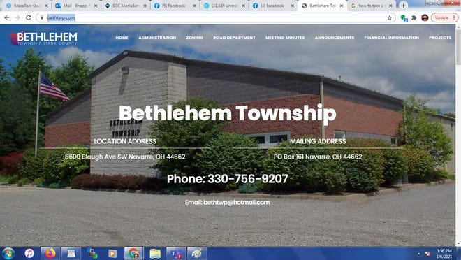 Bethlehem Township recently launched a township website at www.bethtwp.com. The website has contact information, meeting minutes and downloadable permits.