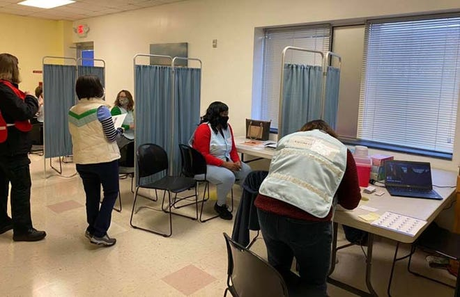 Onslow County Health Department Covid-19 vaccination section is getting ready for persons 75 years or older to receive the vaccine, call the Citizens Phone Bank at 910-989-5027 to register for an appointment.