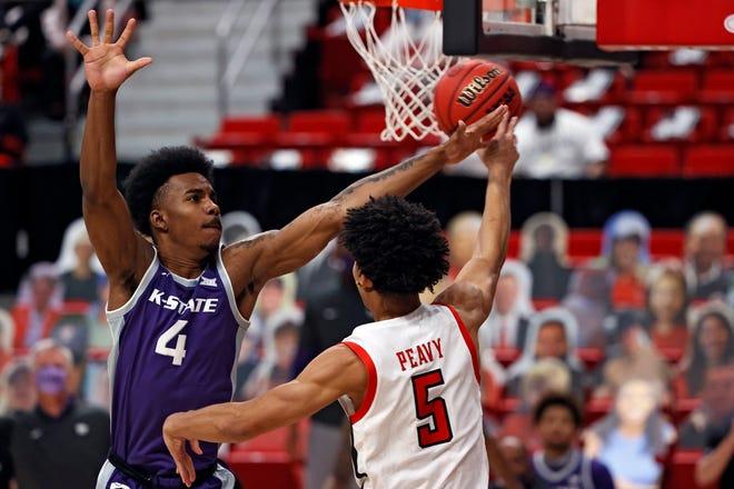 Kansas State sophomore forward Seryee Lewis (4) will miss the 2021-22 basketball season with a knee injury.