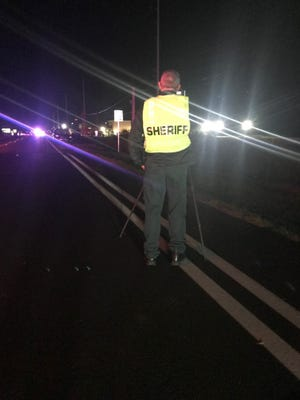 A crash on Dundee Road Tuesday night left a pedestrian in critical condition.