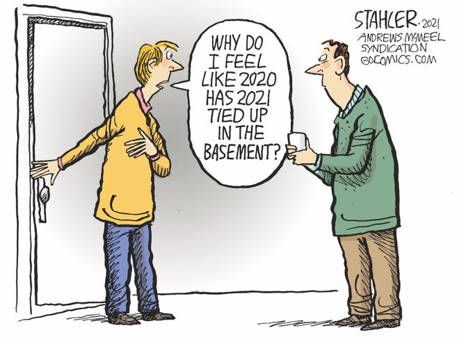 Jeff Stahler on the carryover of 2020 problems into 2021