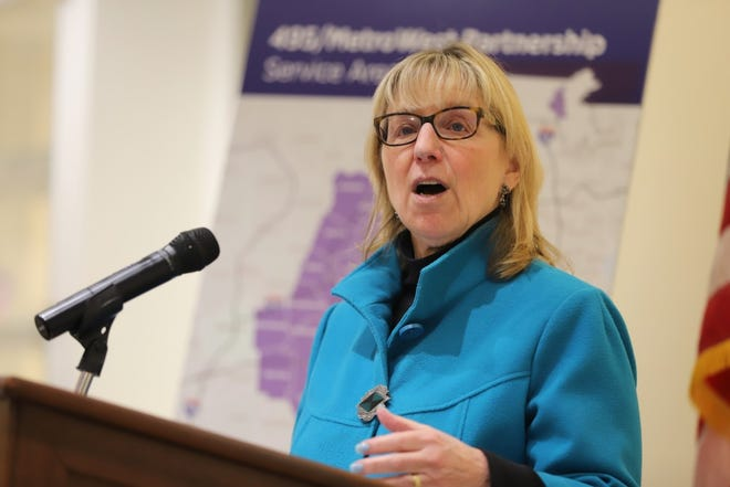 "State Senate President Karen Spilka said the $626.5 million economic development compromise bill ""covers a lot of ground."""