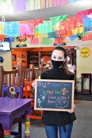 La Perla, the Mexican restaurant in Dunsmuir, is staying open for takeout only from 3 to 8 p.m. on Monday through Saturday.