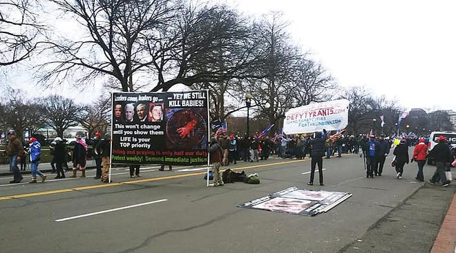 Pro Trump protesting in Washington, D.C.