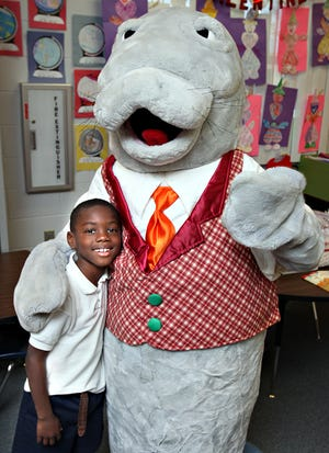 Matt Manatee is eager to see students' letters, jokes and drawings.