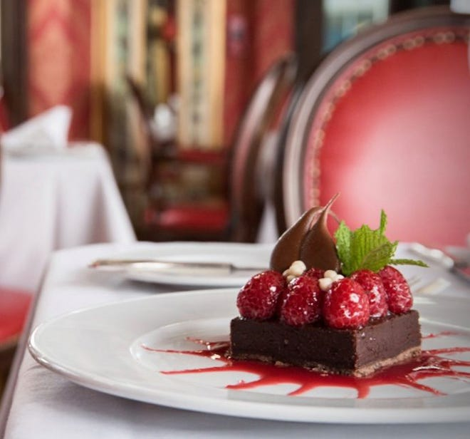 Raspberry-and-chocolate ganache tart has been a favorite at Renato's.