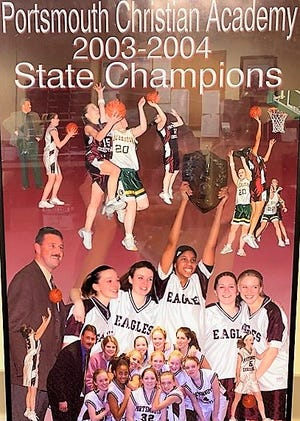The 2003-04 Portsmouth Christian Academy girls basketball team won the school's first state championship in any sport, capturing the Class S title with a 48-41 win over Colebrook.