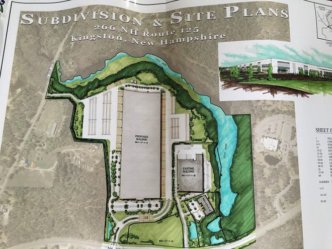An artist's rendering of a proposed 800,000-square-foot warehouse in Kingston.
