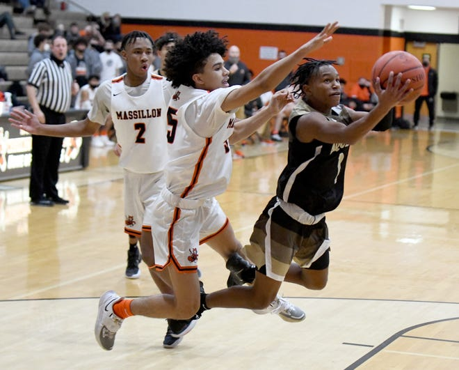 St. Thomas Aquinas @ Massillon boys basketball Tuesday, January 05, 2021.