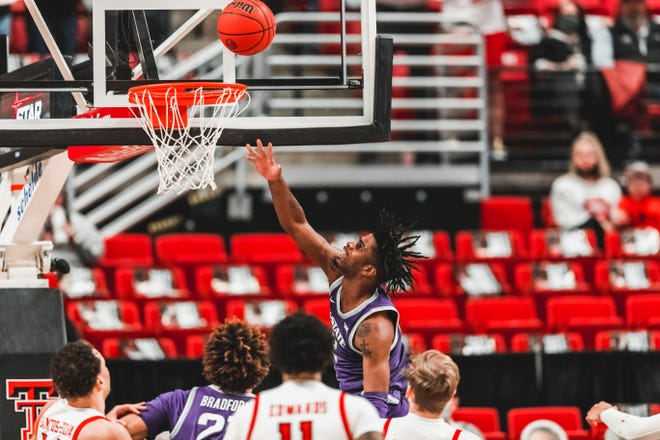 Kansas State's Selton Miguel drives to the basket for two of his 17 points during the Wildcats' 82-71 loss to Texas Tech on Tuesday night in Lubbock, Texas.