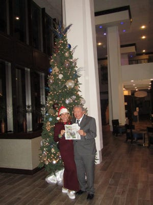 Lucia Drain and Aubrey (Ozzie) Boutin took The Record along when they celebrated Ozzie's birthday by attending the Jacksonville Sympathy Holiday POPS and having dinner at Ruth's Chris Steak House!
