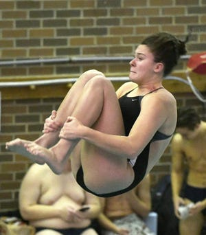 Green diver Taylor Peterson returns after finishing 15th at the state meet a season ago.