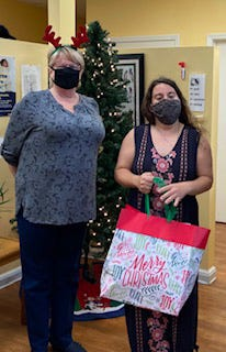 Pictured, Jayne Bell, sister and Kathryn Steeber of the HOPE Family Resource Center. [CONTRIBUTED PHOTO]