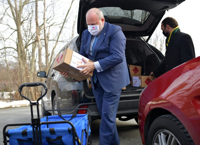 WORCESTER - Meron Reuben, Chief of State Protocol, Israel's newly appointed Consul General to New England, visited Worcester and the local Jewish community Wednesday as part of a program to deliver COVID relief supplies. This is the first visit to Worcester for the Consul General.