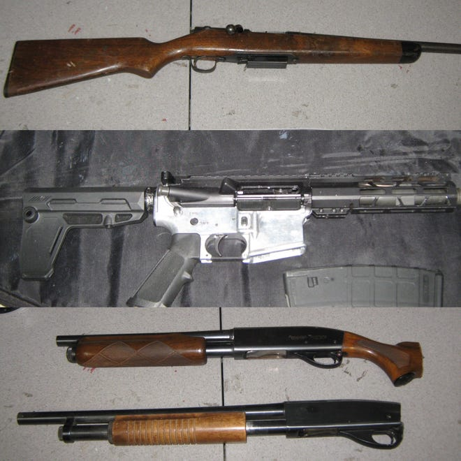 Firearms recovered during a search warrant in Victorville on  Tuesday, Jan. 5, 2020.