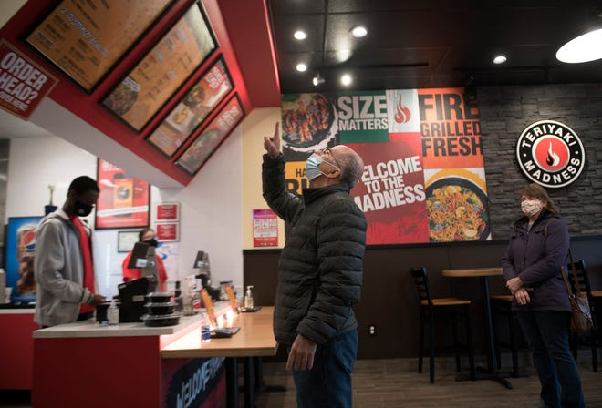 Customers place their orders at Teriyaki Madness in Marlton.