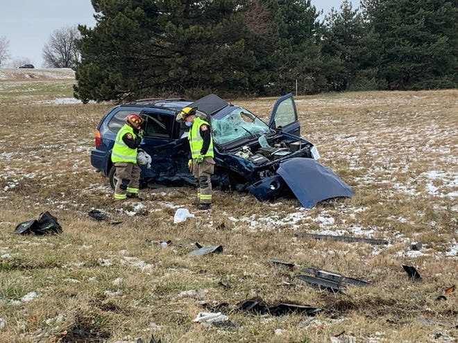 A Grand Ledge woman was killed in a two-vehicle crash Dec. 31 in Delta Township.