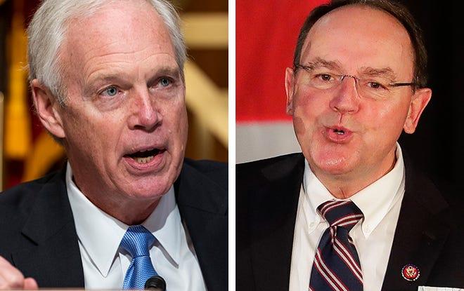 Sen. Ron Johnson, left, and Rep. Tom Tiffany, right