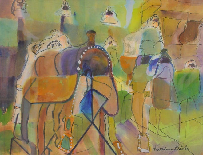 """Kathleen Biale's """"Saddles"""" is a 2004 watercolor that will be featured in the upcoming """"Art in Focus"""" exhibition at the Farmington Museum at Gateway Park."""