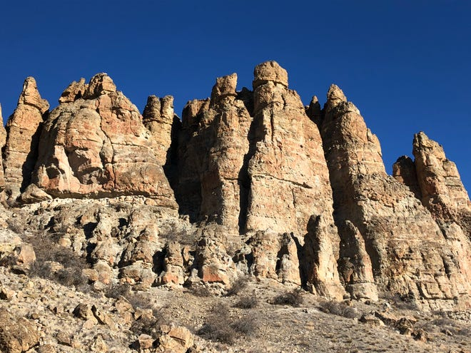 The Clarno Palisades in eastern Oregon