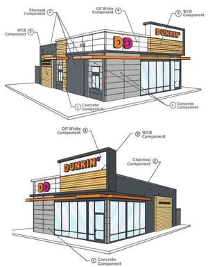 Renderings for a new Dunkin' and Baskin Robbins site in Stevens Point