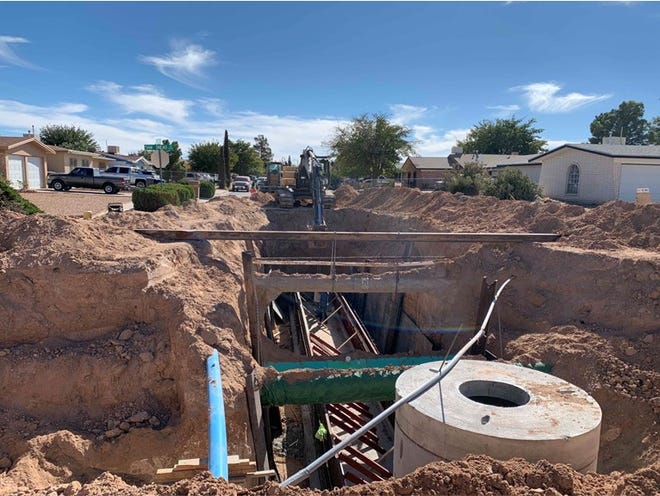 A slight increase to the stormwater fee would help pay for drainage projects around El Paso, such as the Bywood Drainage Improvements project. Photo courtesy of El Paso Water.