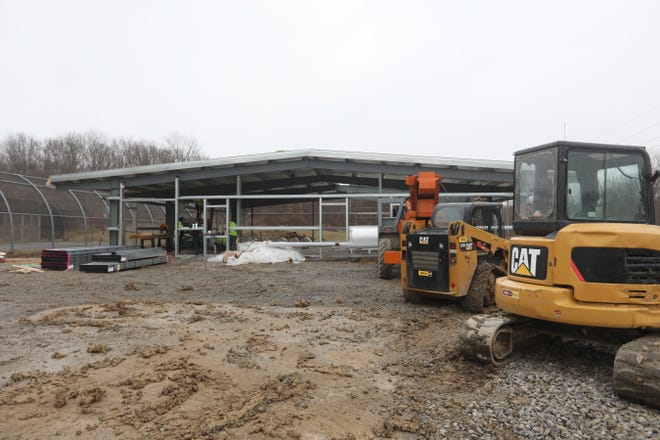 Work continues on a Muskingum County Dog Pound behind the Muskingum County Juvenile Detention Center on East Pike.