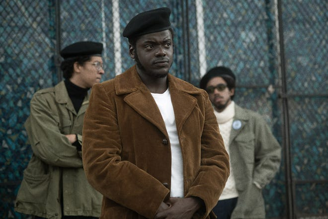 "Daniel Kaluuya (center) stars as Black Panther Party chairman Fred Hampton, who's targeted by the FBI in the period drama ""Judas and the Black Messiah."""