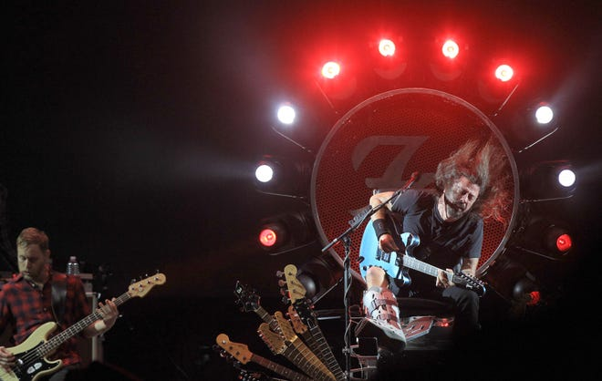 The Foo Fighters, seen here at Austin City Limits Music Festival in 2015, are coming out of the gate with a fresh party record early this year.
