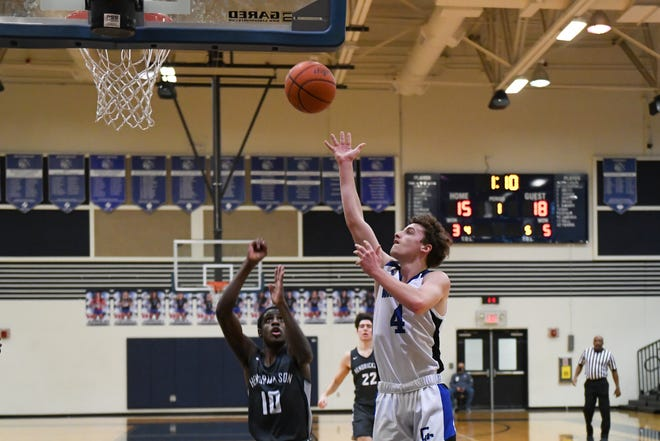 Kaleb Bunker, a junior guard for CedarCreek, led the Eagles to a 2-0 record in District 18-5A by scoring 24 points with nine rebounds and three steals in a 58-42 win over Elgin and posting 35 points, six assists and three steals in a 79-62 win over Connally on Saturday.