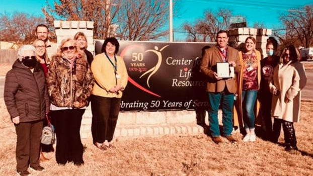 The Early Chamber of Commerce named the Center for Life Resources as its December business of the month.