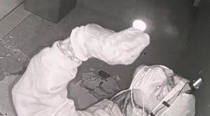 Security video captures a suspect burglarizing a Larose church Tuesday.
