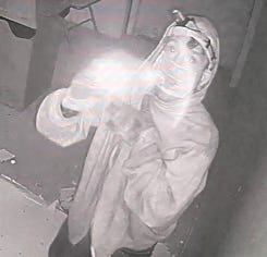 Another image of the suspect captured by security cameras.