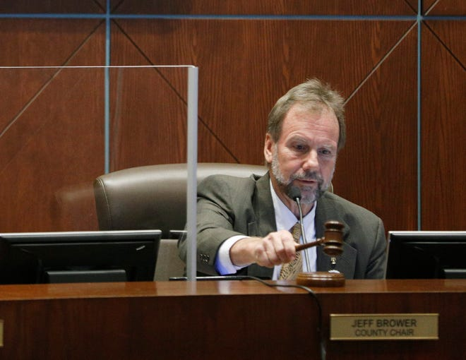 Jeff Brower starts his first meeting as Volusia County Chair in DeLand, Thursday, Jan. 7, 2021.