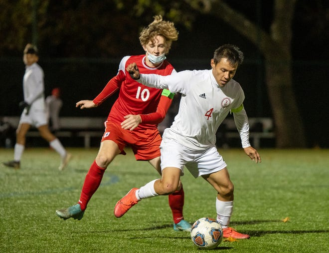 Van Horn senior forward Edison Rios (4) put together an All-American-type season with 31 goals and 13 assists for the 20-5 Falcons. Rios is The Examiner's 2020 Boys Soccer Player of the Year.