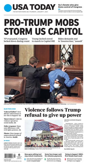 USA TODAY Jan. 7, 2021 front page