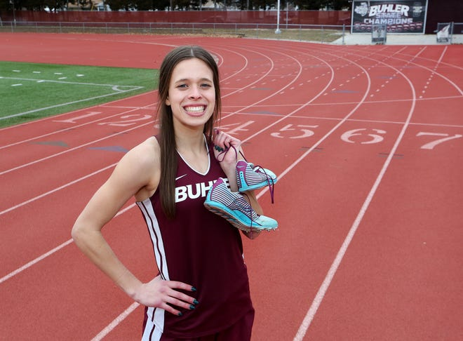 Buhler High School senior Leah Bentley will be attending West Point after graduation, starting basic training in June 2021. She will be a member of the academy's Div. I Track and Cross Country teams.