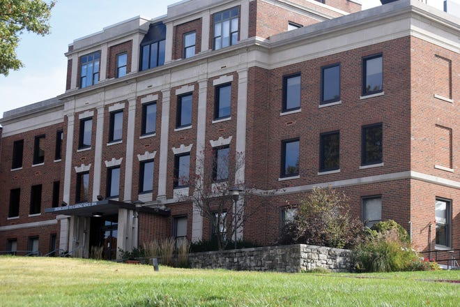 The former Saint Luke's Cushing Hospital building is now owned by the Leavenworth County government.