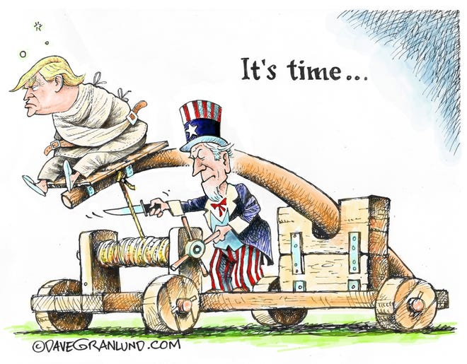 Dave Granlund cartoon on it being time for Trump to leave office