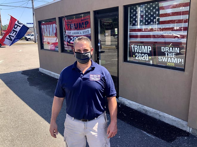 Keith Lambert, owner of 22 Trump-themed retail stores, said people told him, and showed him videos of, buses of left-leaning groups being escorted to the Capitol by police, and said that group started Wednesday's siege.