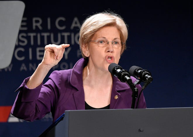 U.S. Sen. Elizabeth Warren is urging President Donald Trump's Cabinet to invoke the 25th Amendment and remove him from office.