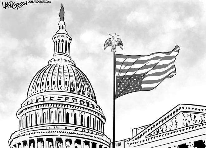 A Don Landgren cartoon in the wake of the Capitol riot