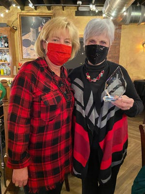Shelly Gieker is pictured with Carole Beattie, the Fort Smith Junior League's Sustainer of the Year for 2020.