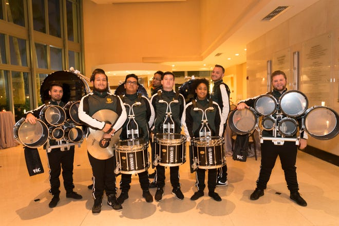 The Palm Beach State College Drumline at the Cultural Council for Palm Beach County's 2018 Muse Awards, at the Kravis Center for the Performing Arts.