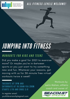 The North Hampton library will host a Jumping into Fitness program for kids and teens via Zoom.