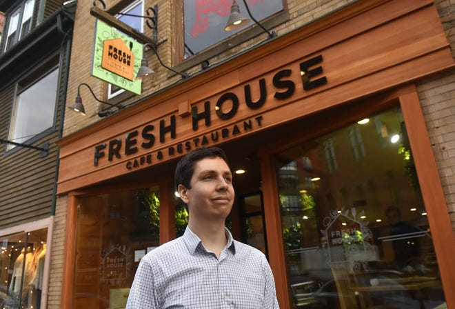 Harrison Schoenau, founder and owner of Fresh House Cafe and Restaurant, is pursuing a longtime dream with his new eatery on Congress Street in Portsmouth, as seen on Jan. 6, 2021.
