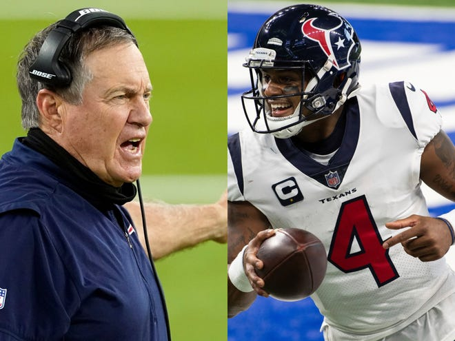 Would Bill Belichick mortgage the Patriots' future to trade for Houston's DeShaun Watson? Or would the Patriots be better off trading Belichick for Watson?