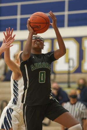 Aurora senior Shyanne Sellers scored 26 points in Saturday's victory over Akron Kenmore-Garfield.