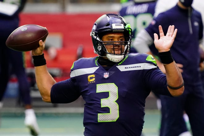 Russell Wilson and the Seattle Seahawks open the playoffs Saturday hosting the Los Angeles Rams.